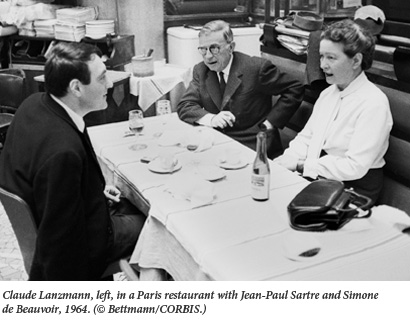 Lanzmann and Sartre