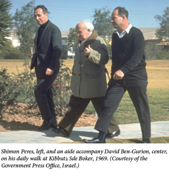 Ben-Gurion and P Walking