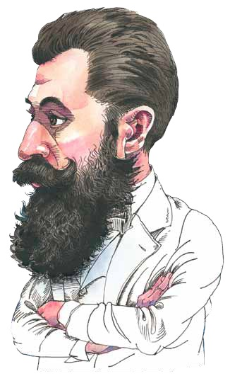 Theodor Herzl. (Illustration by Mark Anderson.)