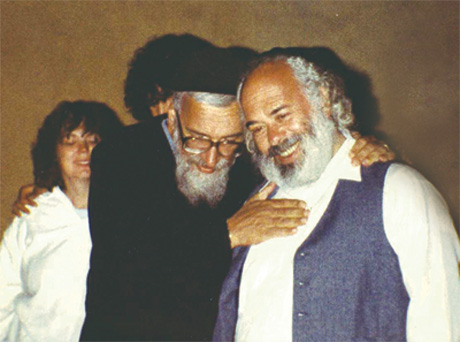 Rabbi Schachter-Shalomi with Rabbi Shlomo Carlebach, Berkeley, 1988. (Courtesy of the Zalman M. Schachter-Shalomi Collection, The University of Colorado at Boulder, Archives.)