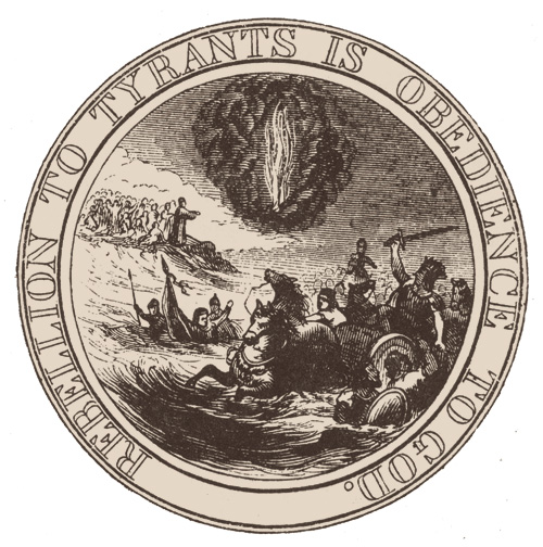 Interpretation of the first committee's seal proposal, Benson Lossing, 1856.