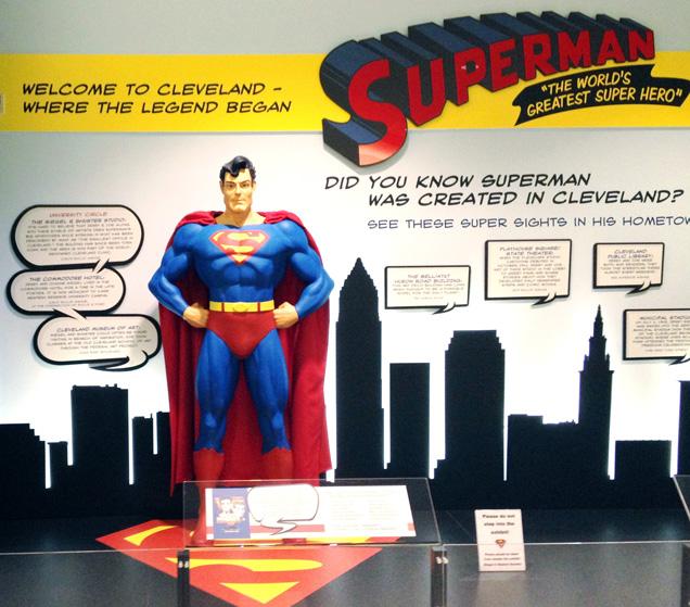 Superman exhibit at Cleveland Hopkins International Airport.