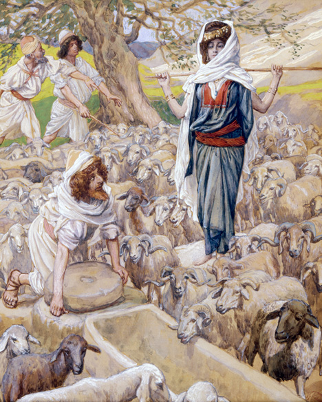 """Jacob and Rachel at the Well,"" ca. late 1890s by James Jacques  Joseph Tissot. (© The Jewish Museum, New York/Art Resource, NY.)"