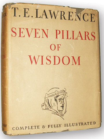 Seven Pillars of Wisdom by T.E. Lawrence, published by Doubleday, Doran & Co., 1935.