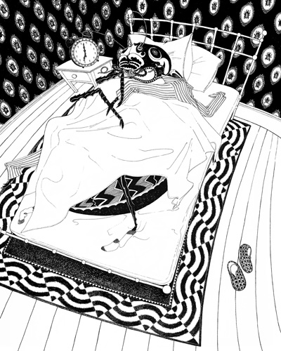 Gregor Samsa. (Illustration by Rohan Daniel Eason, courtesy of One Peace Books.)
