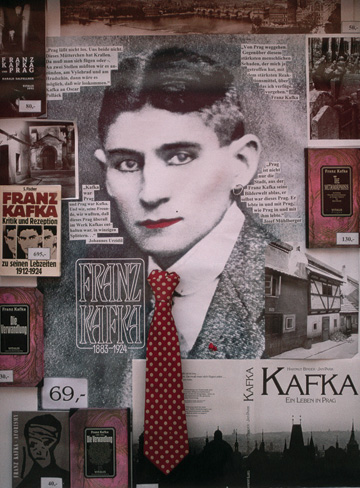 Window display in a Kafka bookshop in Prague's Lesser Quarter, September 1995. (© Barry Lewis/CORBIS.)