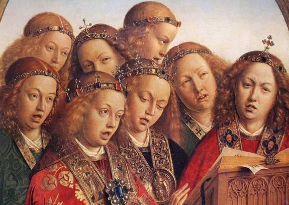 Detail of Ghent Altarpiece.