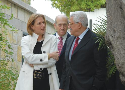 Livni, Olmert, Abbas