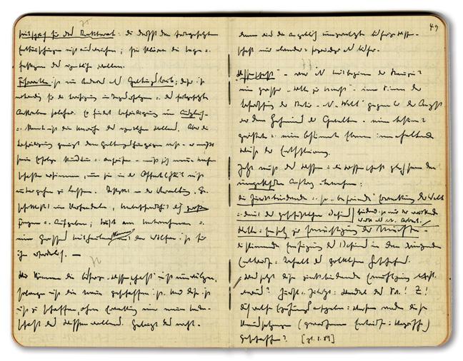 page from Heidegger's Black Notebooks