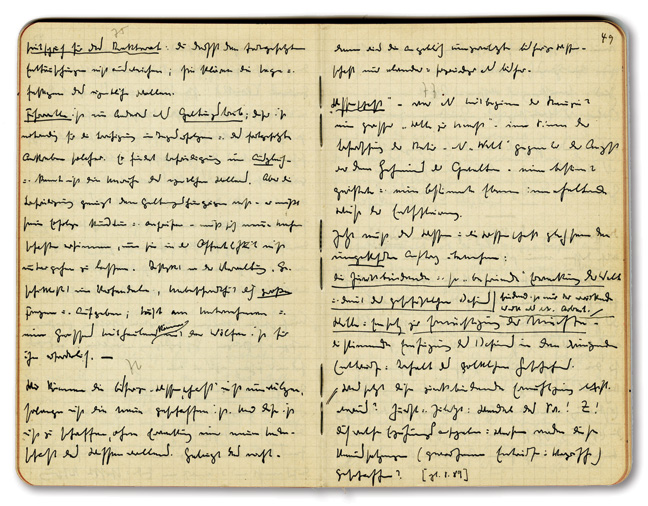 page from Heidegger's Black Notebooks
