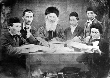 Rabbi Elijah Guttmacher and students
