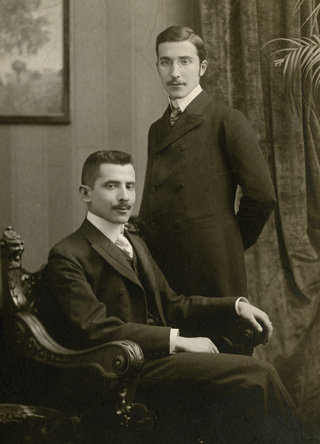 Stefan Zweig and his brother