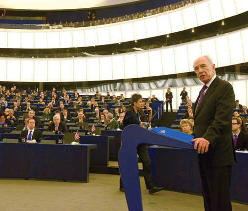 Shimon Peres at the EU Parliament