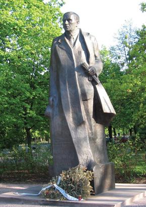 Roman Dmowski monument, Warsaw, Poland.