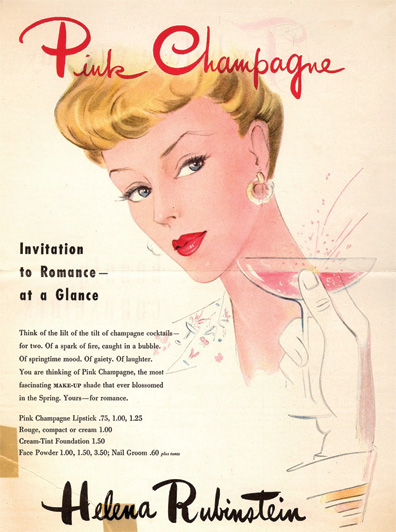 Rubinstein ad, which appeared in Vogue, 1945. (Courtesy of the John W. Hartman Center for Sales, Advertising & Marketing History, Rubenstein Rare Book and Manuscript Library, Duke University.)