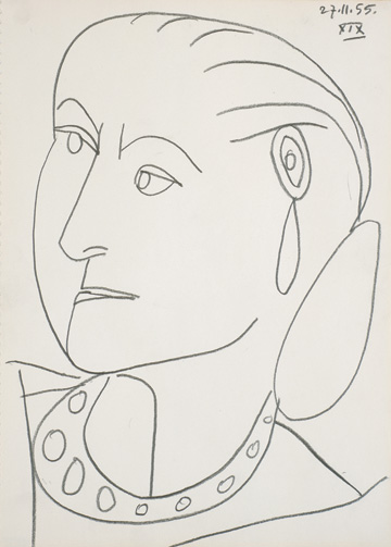 Portrait of Helena Rubinstein XIX 27-11-1955 by Pablo Picasso, Himeji City Museum of Art, Japan. (© 2014 Estate of Pablo Picasso/Artist Rights Society, ARS, New York.)