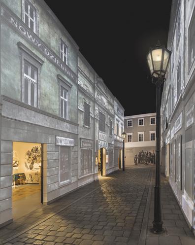 Replica of a Jewish street.