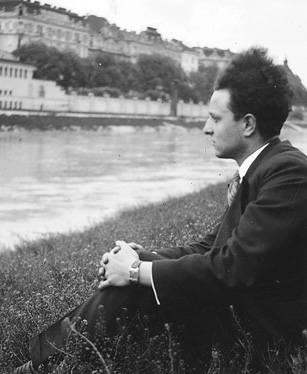 Karl Wildman on the banks of Vienna's Donaukanal. (Courtesy of Riverhead Books.)