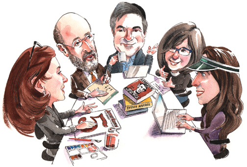 The JRB staff. (Illustration by Mark Anderson.)