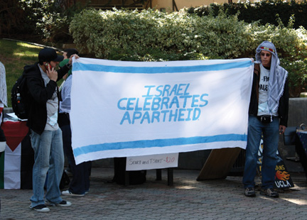 Israeli Apartheid Week, May 2010, University of California, Los Angeles campus. (Courtesy of AMCHA Initiative.)