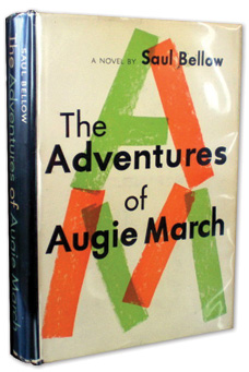 First edition of  Bellow's The Adventures of Augie March, 1953.