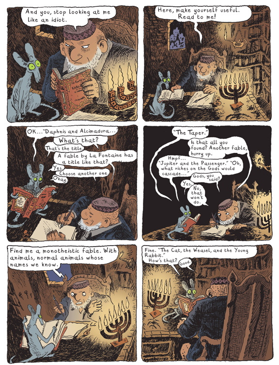 From The Rabbi's Cat. (© Joann Sfar. Published by arrangement with Pantheon Books, a division of Penguin Random House LLC. All rights reserved.)