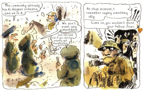 A panel from Klezmer. (© Joann Sfar, used with permission of First Second Books.)