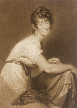 Engraving of Baroness Fanny von Arnstein.