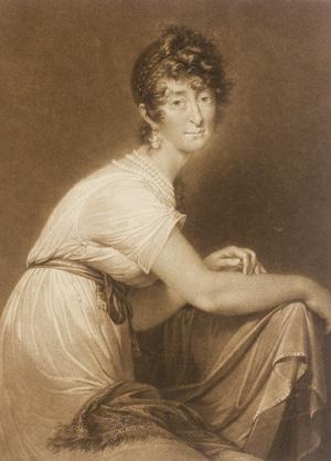 Engraving of Baroness Fanny von Arnstein.