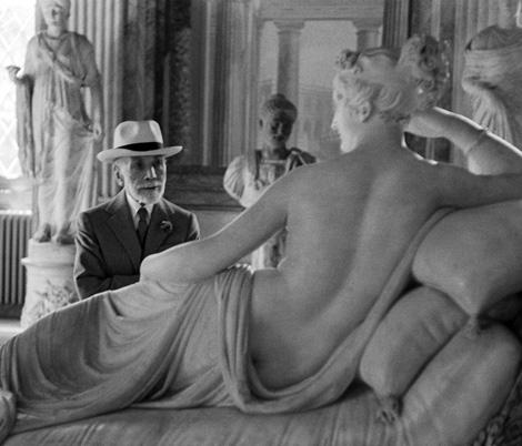 Bernard Berenson at the Borghese Gallery, Rome.