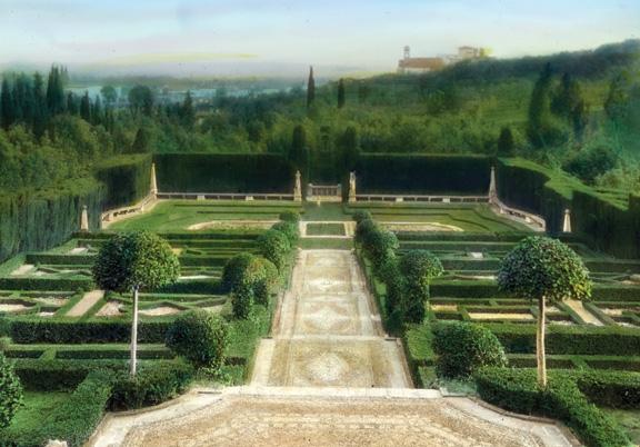 The terrace steps at Villa I Tatti, near Florence.