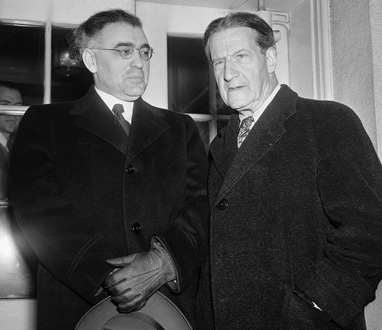 Rabbis Abba Hillel Silver and Stephen S. Wise after a meeting with President Roosevelt at the White House.