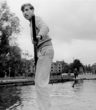 Dickstein, punting on the Cam.