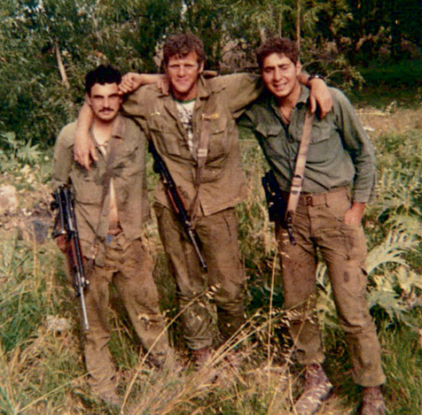 Michael Oren, center, as an Israeli paratrooper, early 1980s. (Courtesy of the author and Random House.)