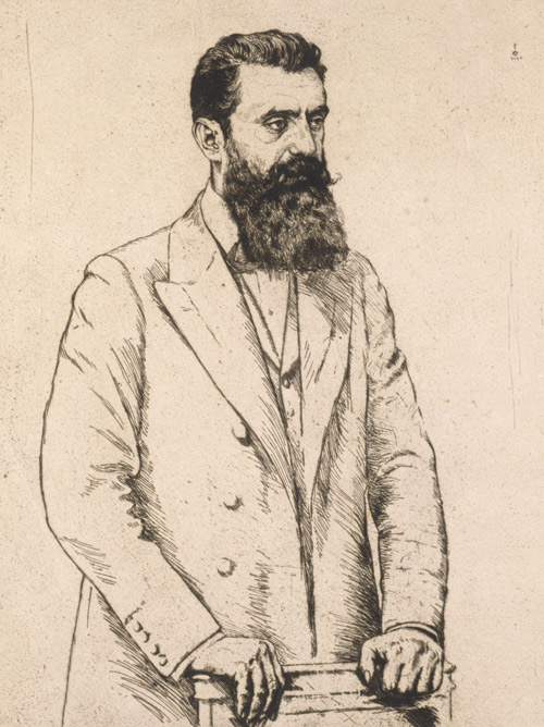 Portrait of Theodor Herzl by Hermann Struck, ca. 1920s. (From the Jewish Museum, Berlin.)