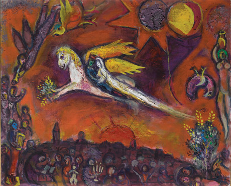 The Song of Songs, IV by Marc Chagall, 1958. (© RMN-Grand Palais/Art Resource, NY, and ©ARS, NY.)
