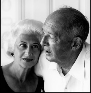 Véra and Vladimir Nabokov, 1966. (© Philippe Halsman/Magnum Photo.)