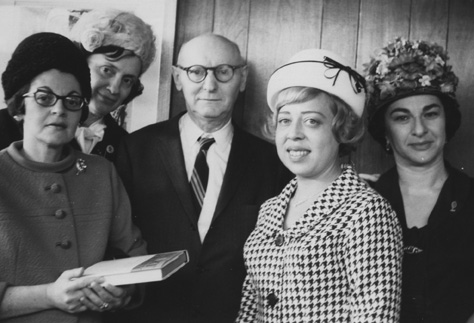 Isaac Bashevis Singer with his translators. (Courtesy of the Harry Ransom Center.)