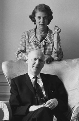 Isaac Bashevis Singer with his wife, Alma, ca. 1960s. (Courtesy of the Harry Ransom Center.)