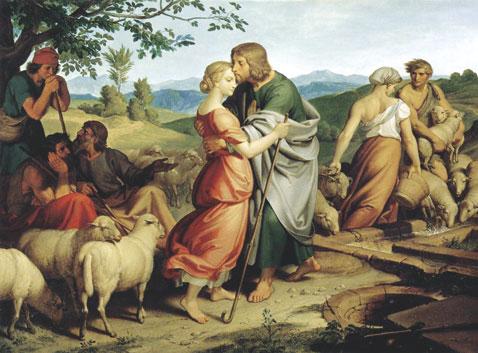 Jacob Encountering Rachel with Her Father's Herds by Joseph von Führich, 1836. (Courtesy of the Österreichische Galerie Belvedere, Vienna.)