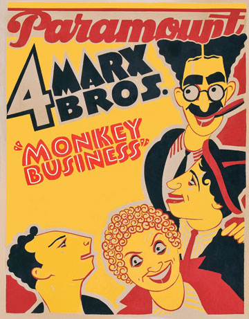 Poster advertising Monkey Business, 1931. (Courtesy of the Everett Collection.)