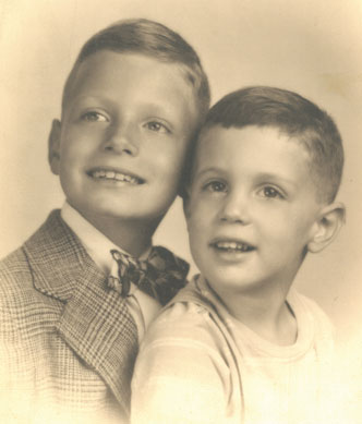 Bob and Jim Reiss, October 1944. Bob was seven at the time and Jim was three. (Courtesy of James Reiss.)