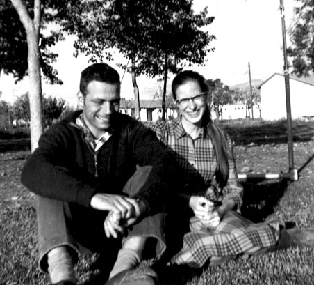 Reuven and Yehudit (Bob and Jody) Ben-Yosef at Kibbutz HaGoshrim near what was then the Syrian border, ca. early 1960s. (Courtesy of James Reiss.)