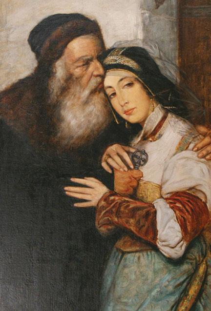 Shylock and Jessica by Maurycy Gottlieb, 1876.