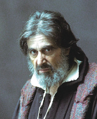 Al Pacino as Shylock in The Merchant of Venice, 2004. (From Sony Classics.)