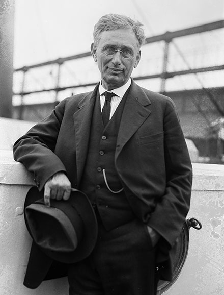 Louis D. Brandeis on the Mauretania en route to Palestine, 1919. (Courtesy of the Library of Congress, Prints and Photographs Division.)