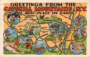 "Vintage postcard from ""the best place on earth,"" ca. 1950s–1960s."