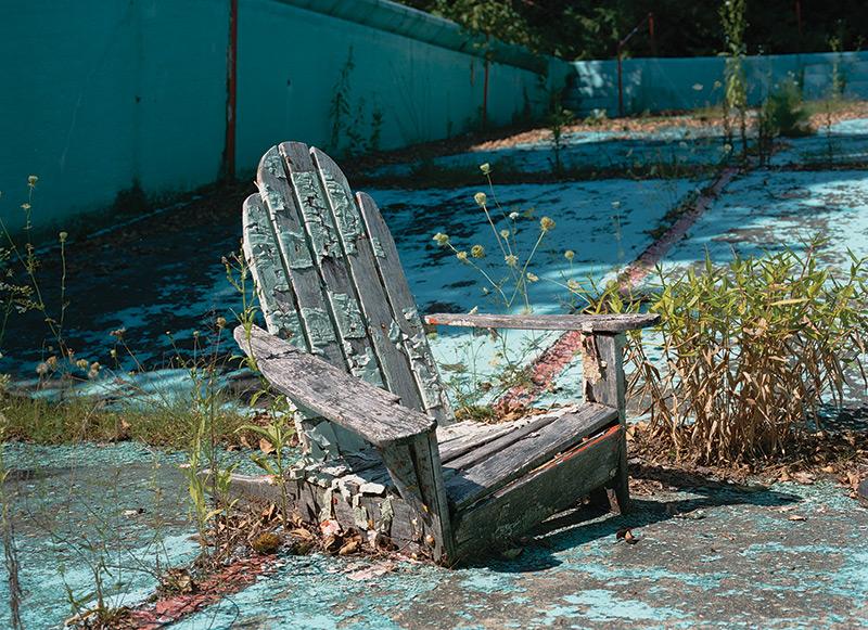 : Outdoor pool,  Vegetarian Hotel, Woodridge, NY. (Courtesy of Marisa Scheinfeld.)