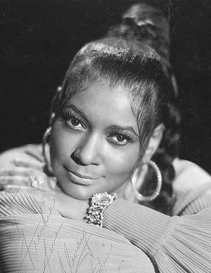 "Sylvia Robinson, in a publicity photo, ca. mid- 1970s, was the founder and CEO of Sugar Hill Records and the driving force behind ""Rapper's Delight."" (Courtesy of BenCar Archive.)"