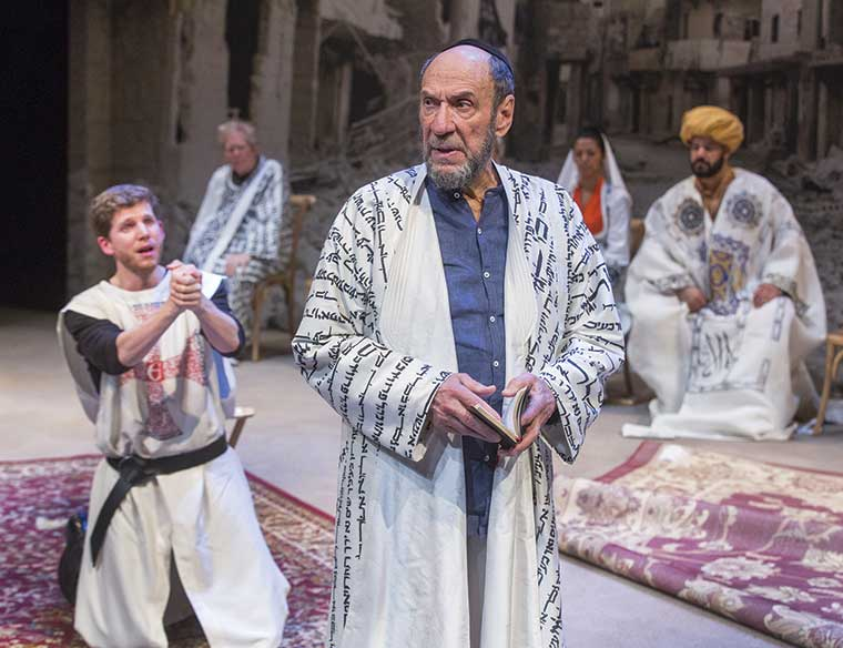 Stark Sands, left, and  F. Murray Abraham in Nathan the Wise. (Photo by Richard Termine, courtesy of  Classic Stage Company.)